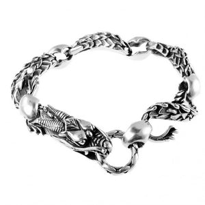 Magnificent Sterling Silver Gothic Dragon Bracelet