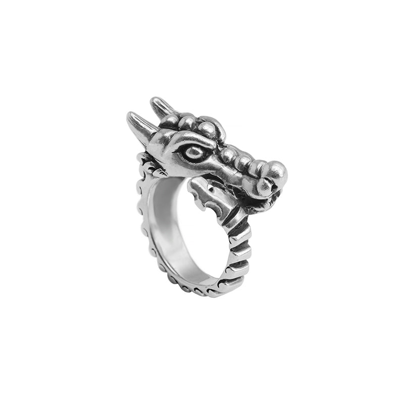 Gothic Dragon Sterling Silver Ring