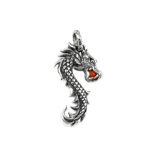 Dragon Pendant with Coral