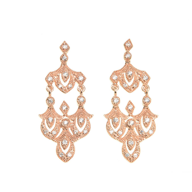 Rose Gold Plated Crystal Enchanted Empress Earrings