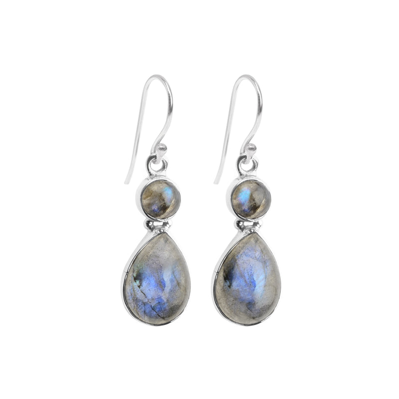 Radiant Labradorite Sterling Silver Earrings