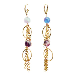 Dazzling Fluorite Gold Filled Earrings