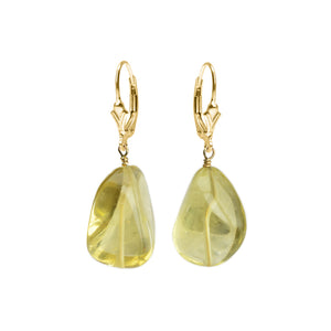 Lemon Quartz Gold Filled Earrings