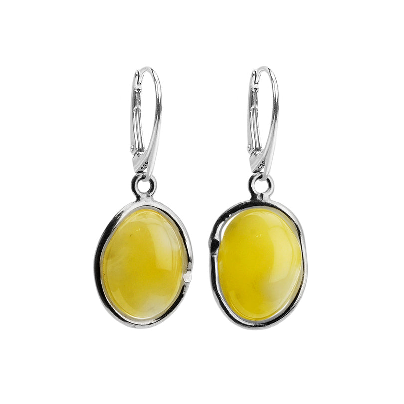 Beautiful Butterscotch Baltic Amber Sterling Silver Earrings