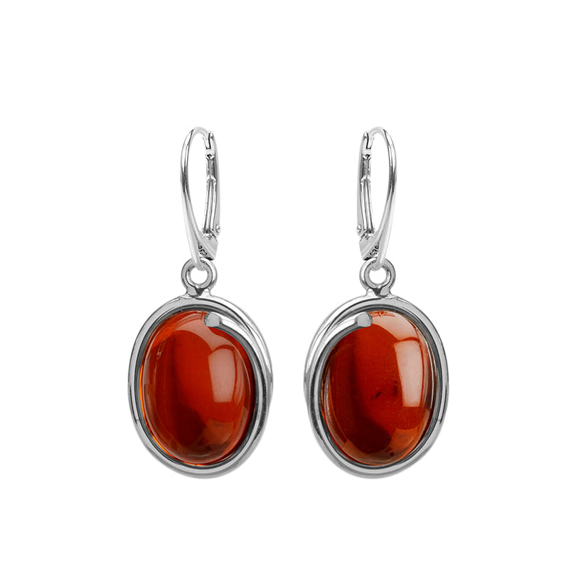 Gorgeous Baltic Amber Sterling Silver Earrings