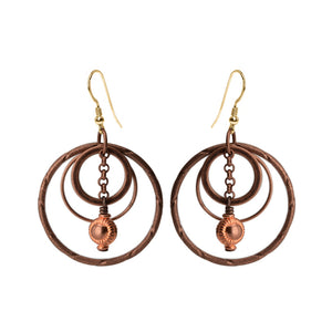 Copper Plated Earrings with Gold Filled Hooks