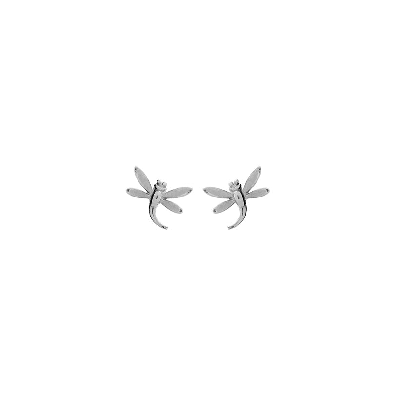 Adorable,Tiny Dragonfly Sterling Silver Stud Earrings