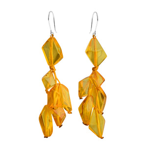 Captivating Cognac Baltic Amber Sterling Silver Earrings