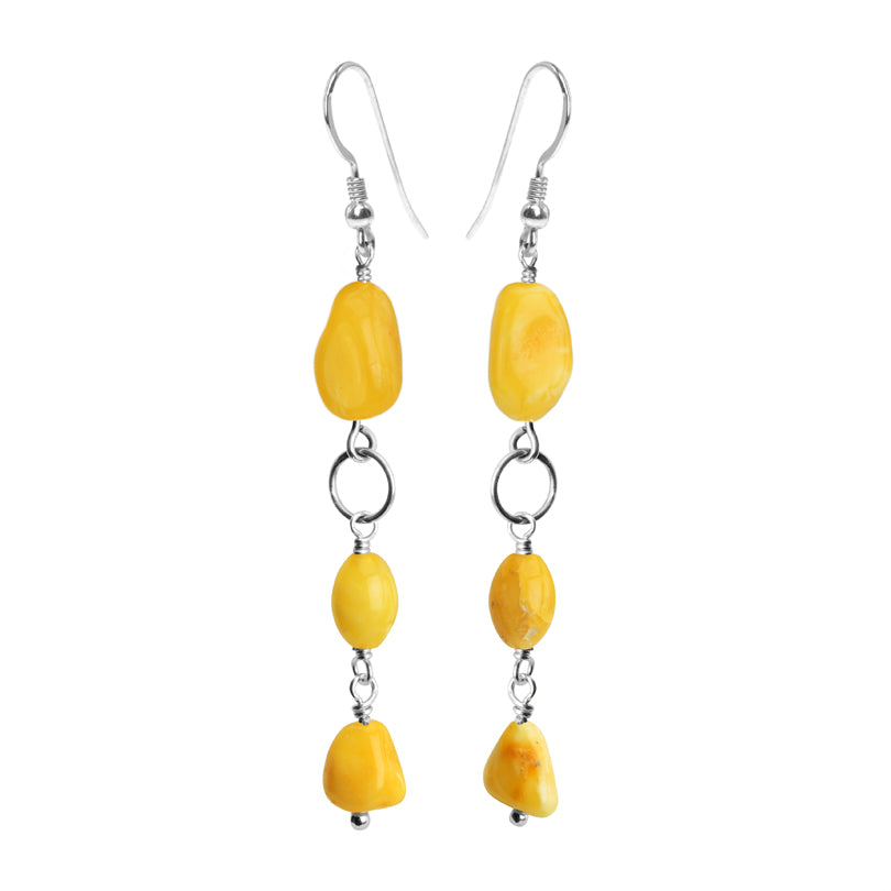 Flirty, Petite Butterscotch Baltic Amber Sterling Silver Earrings