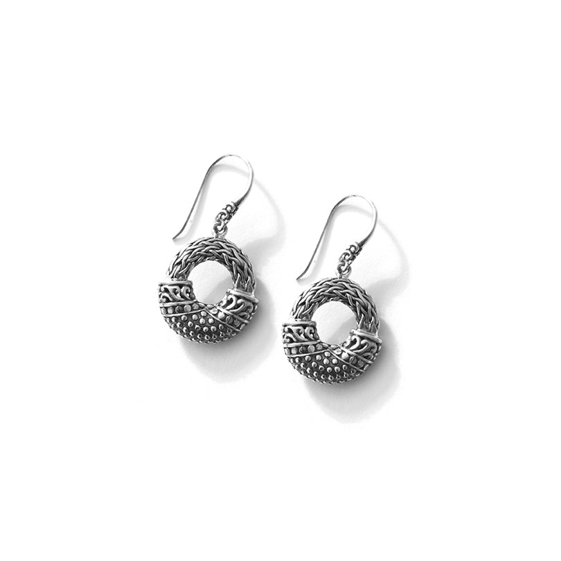 Beautiful  Unique Balinese Design Sterling Silver Statement Earrings