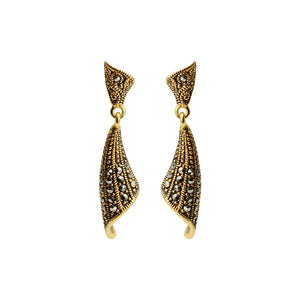 """Sultana Scroll"" Marcasite Earrings"
