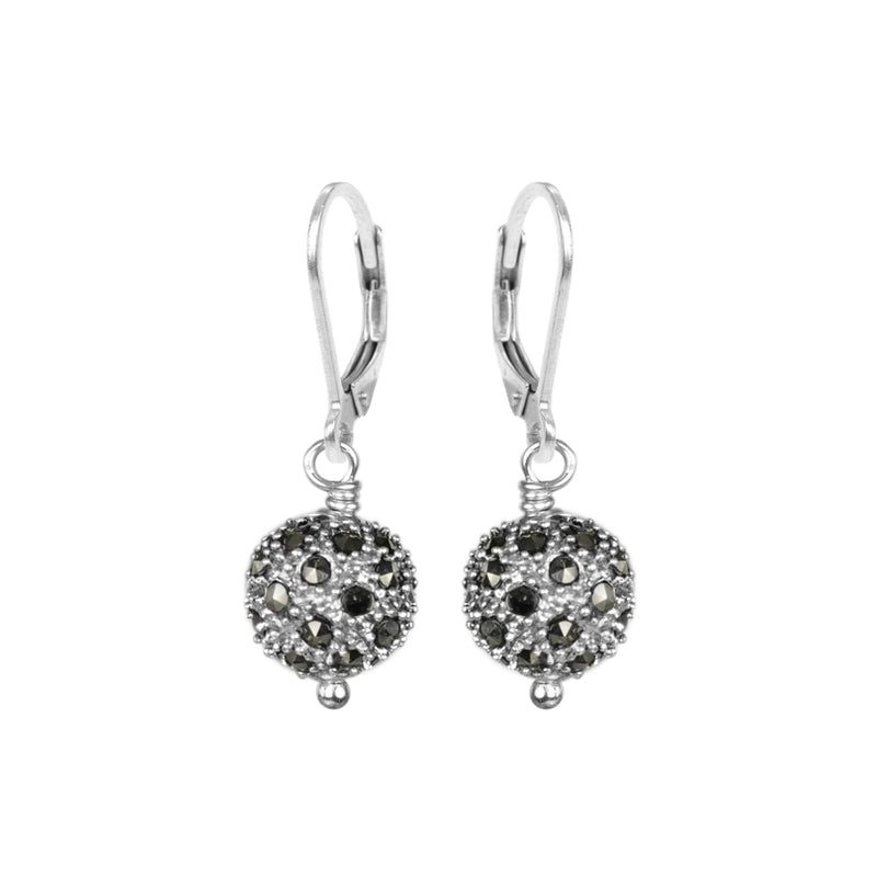 Sparkly Marcasite Sterling Silver Earrings