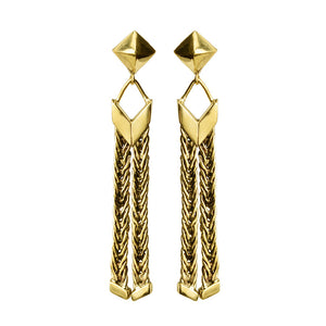 Exclusive Design Karen London Golden Weave Earrings
