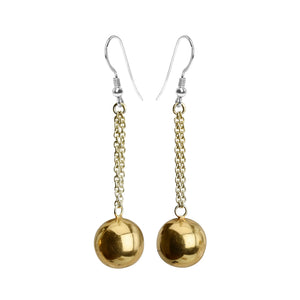 Stunning 18kt Gold Plated Sterling Silver Italian Earrings