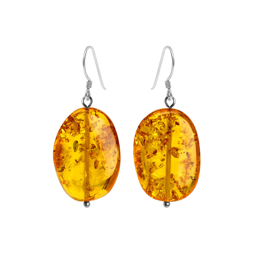 Brilliant Honey Baltic Amber Sterling Silver Earrings