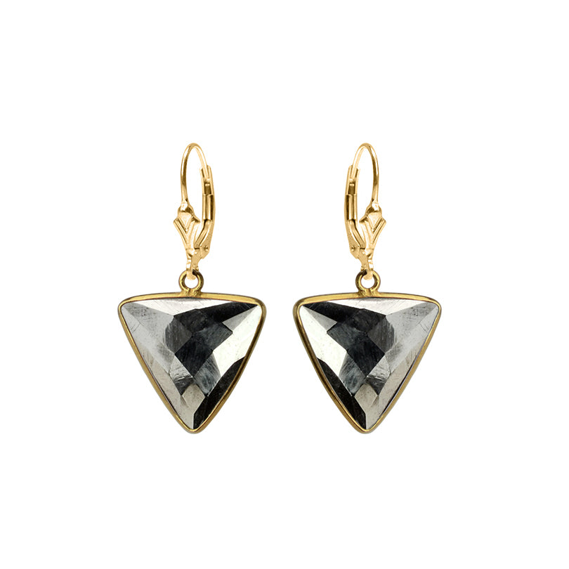 Exotic Pyrite Gold Filled Earrings