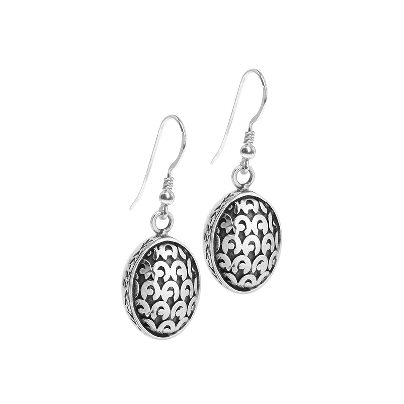 Balinese Designer deGruchy Sterling Silver Earrings