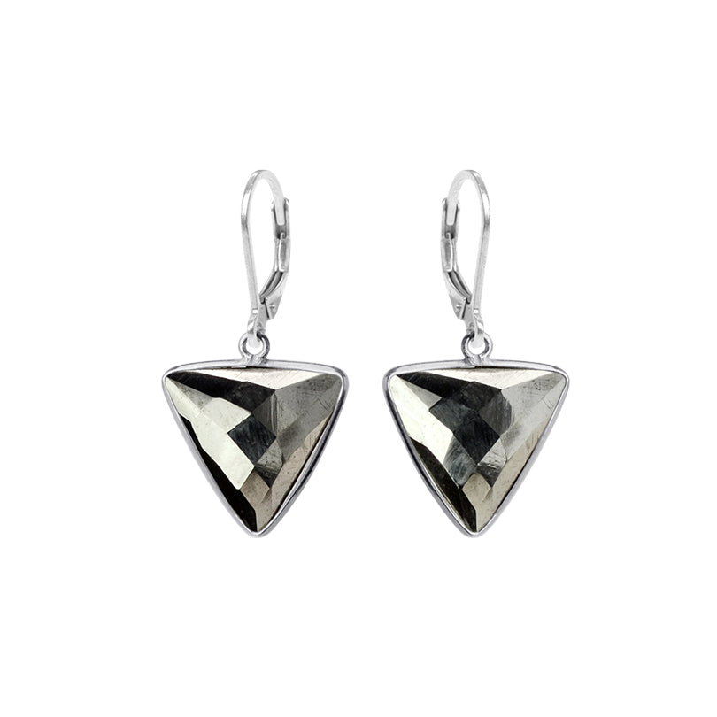 Exotic Pyrite Sterling Silver Earrings