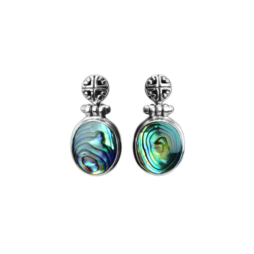 Petite Abalone Sterling Silver Earrings