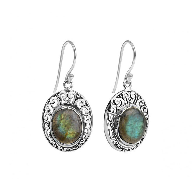Shimmering Labradorite Sterling Silver  Earrings