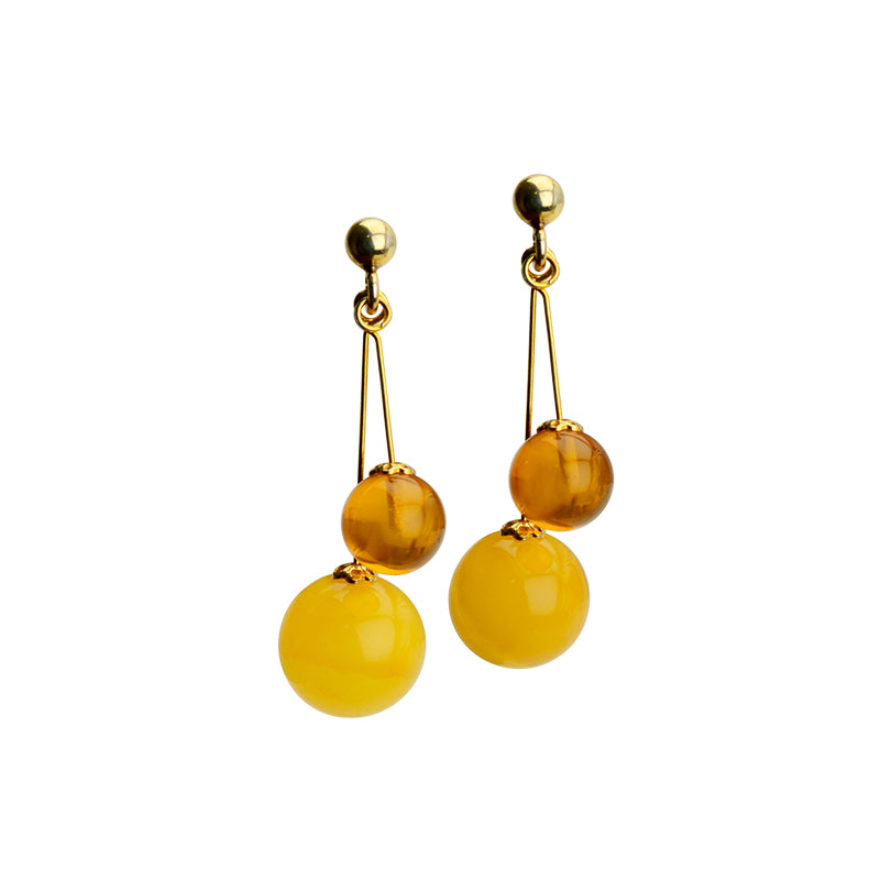 Pretty Polish Baltic Amber Gold Filled Earrings