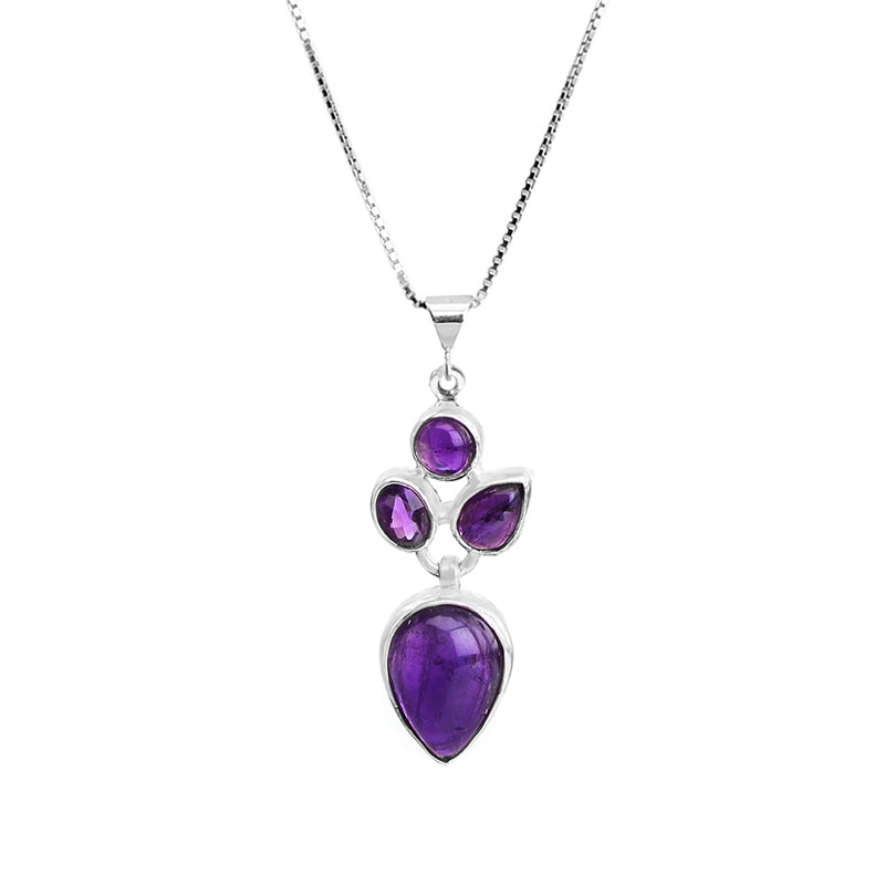 Petite Amethyst Sterling Silver Necklace