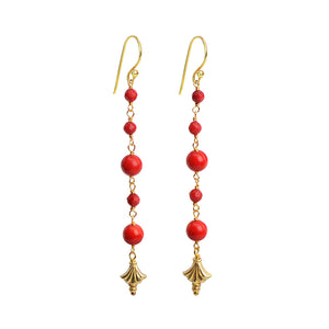 Exquisite Coral Sterling Silver Earrings