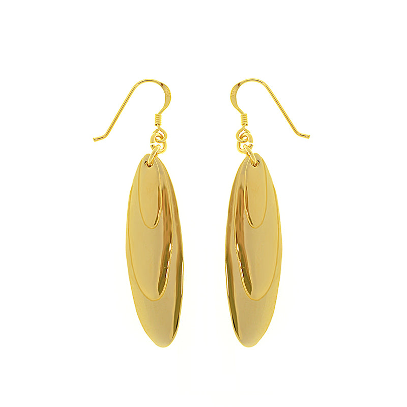 Gorgeous 14kt Gold Plated 3-Drop Drop Earrings