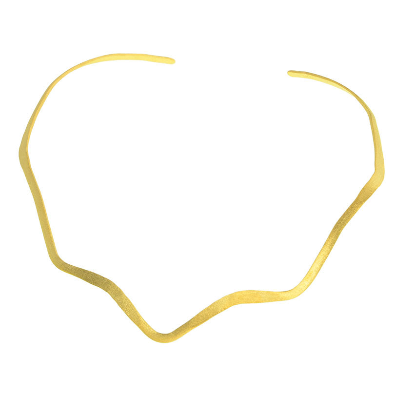18kt Brushed Gold Collar