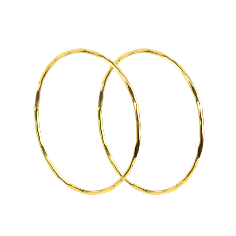 Elegant 18kt Gold Plated Sterling Silver Italian Hoop Earrings