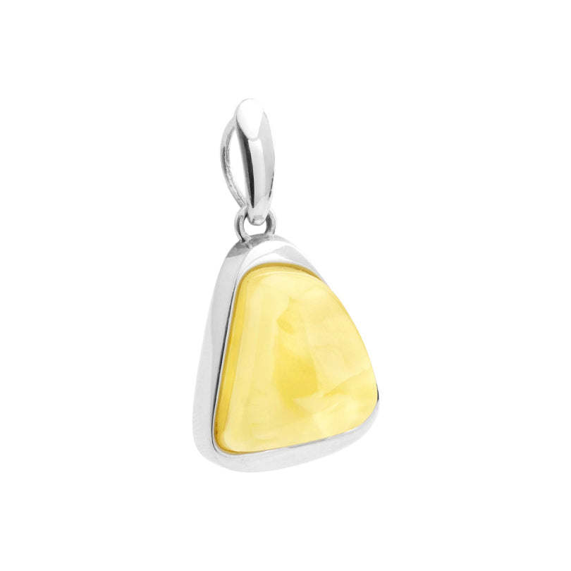 Exquisite Designer Butterscotch Baltic Amber Sterling Silver Pendant