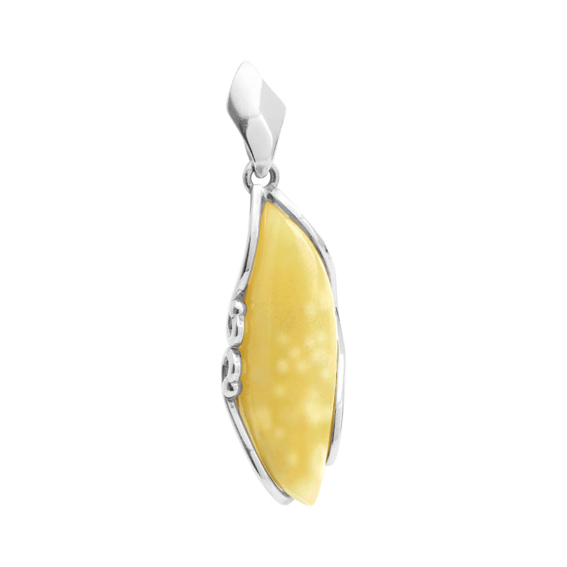 Pretty Butterscotch Baltic Amber Sterling Silver Pendant