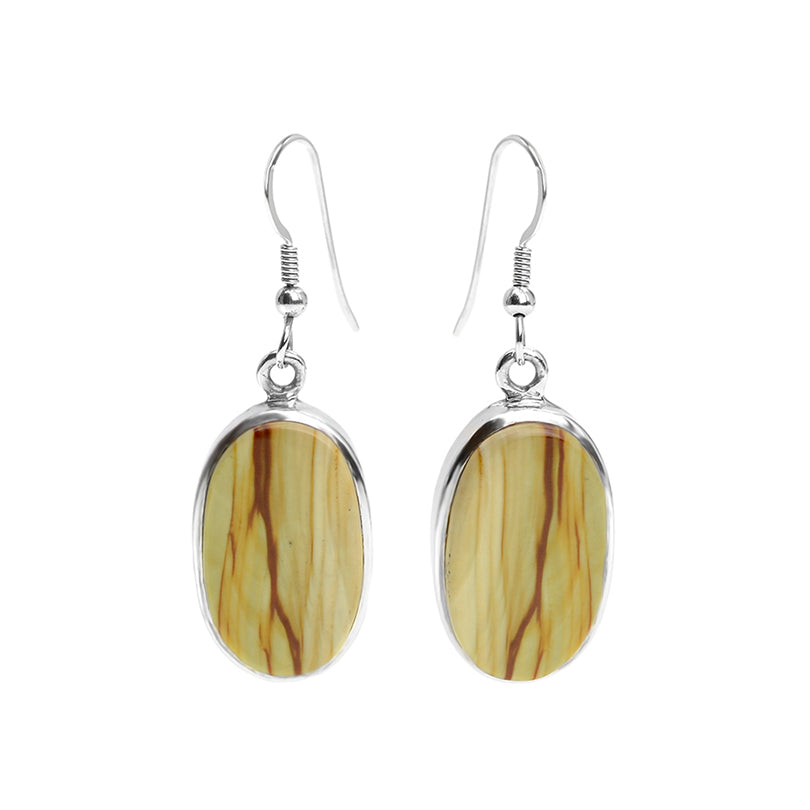 Natural Picture Jasper Sterling Silver Earrings
