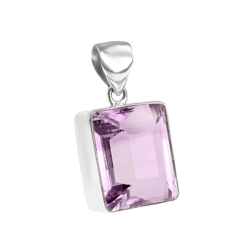Luxurious Brazilian Lavender Amethyst Sterling Silver Statement Pendant