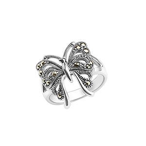 Darling Sterling Silver Marcasite Butterfly Ring