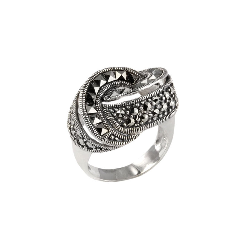 Special High Fashion Design of Swiss Marcasites Sterling Silver Ring
