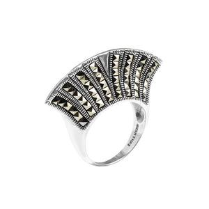 Marcasite Sterling Silver Statement Ring