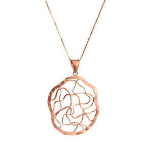 "Rose Gold Plated ""Dreamcatcher"" Design Necklace 18"" - 20"""