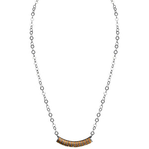 18kt Tri-Color Plated Sterling Silver Italian Necklace