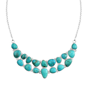 Beautiful Blue Arizona Turquoise Sterling Silver Statement Necklace