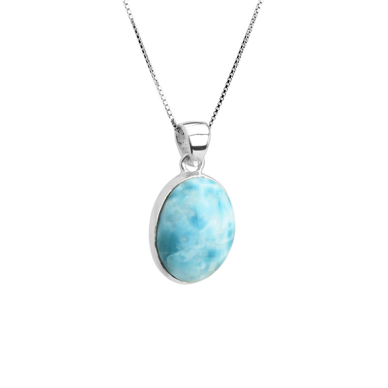 Larimar Sterling Silver Necklace 16