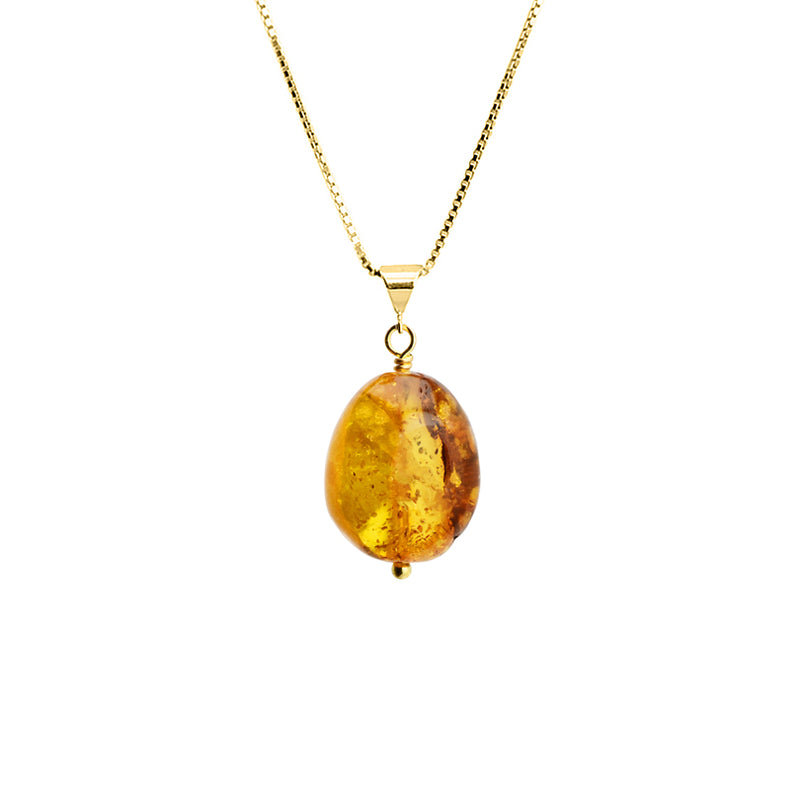 Sparkling Baltic Amber Vermeil Necklace