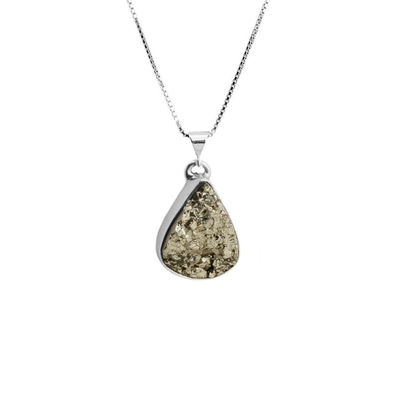 Pyrite Sterling Silver Necklace 18