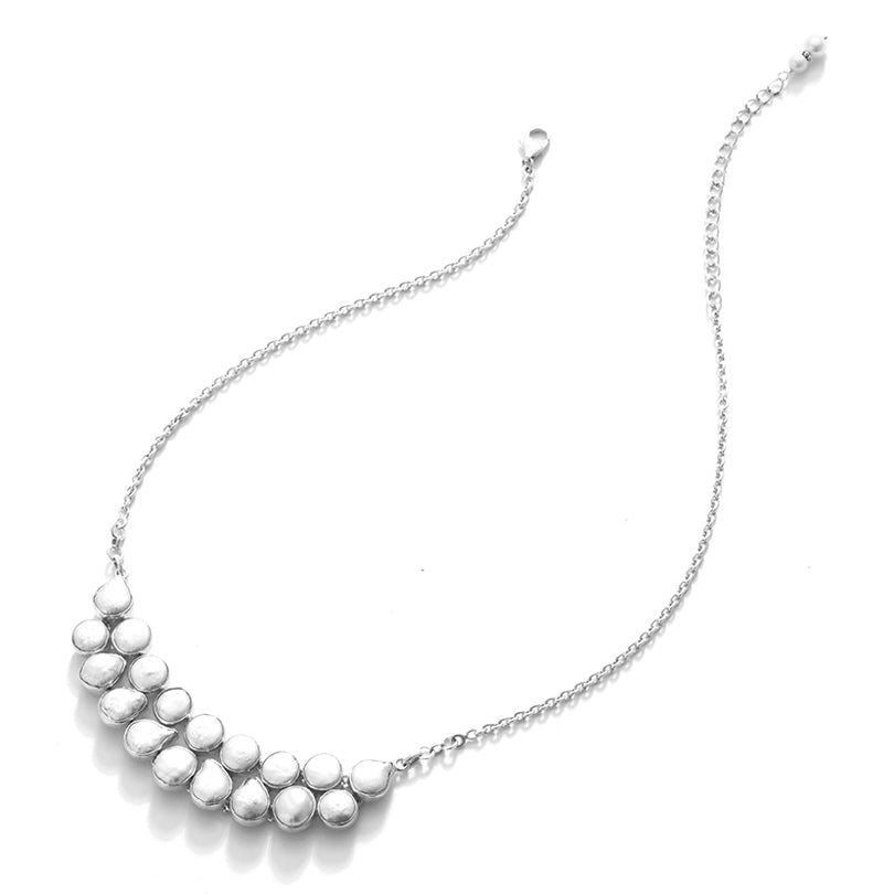 A Classic Fresh Water Pearl Sterling Silver Statement Necklace