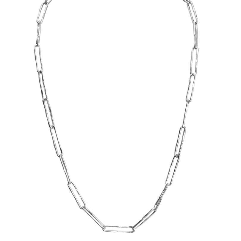 Stunning Italian Chain Rhodium Plated Sterling Necklace -various lengths available