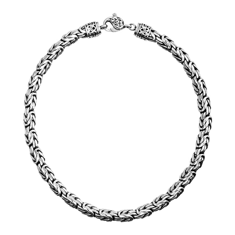 Sterling Silver 10mm Borobadur Chain with Lobster Clasp
