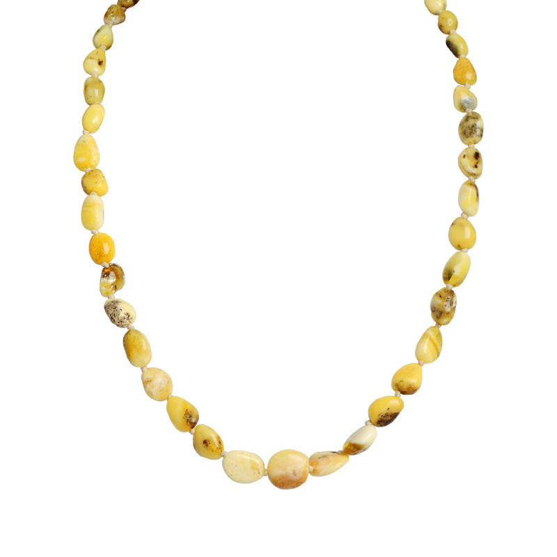 Gorgeous Array of Natural Yellow & White Natural Butterscotch Baltic Amber Necklace.