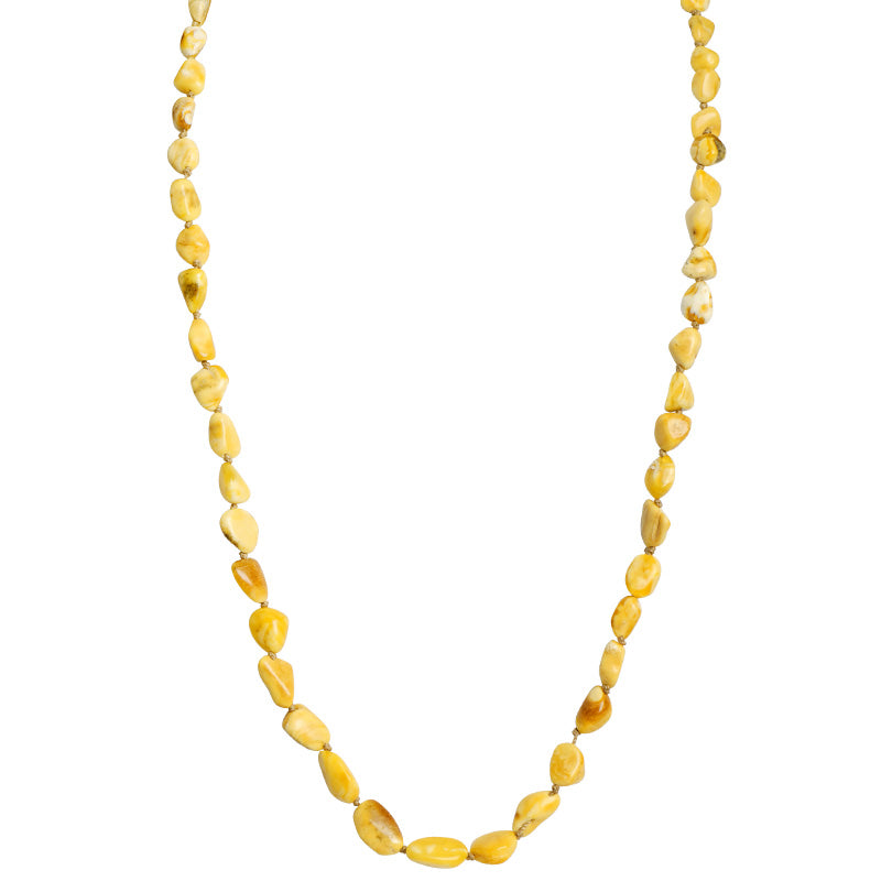 Exquisite Gold & White Butterscotch Baltic Amber Necklace
