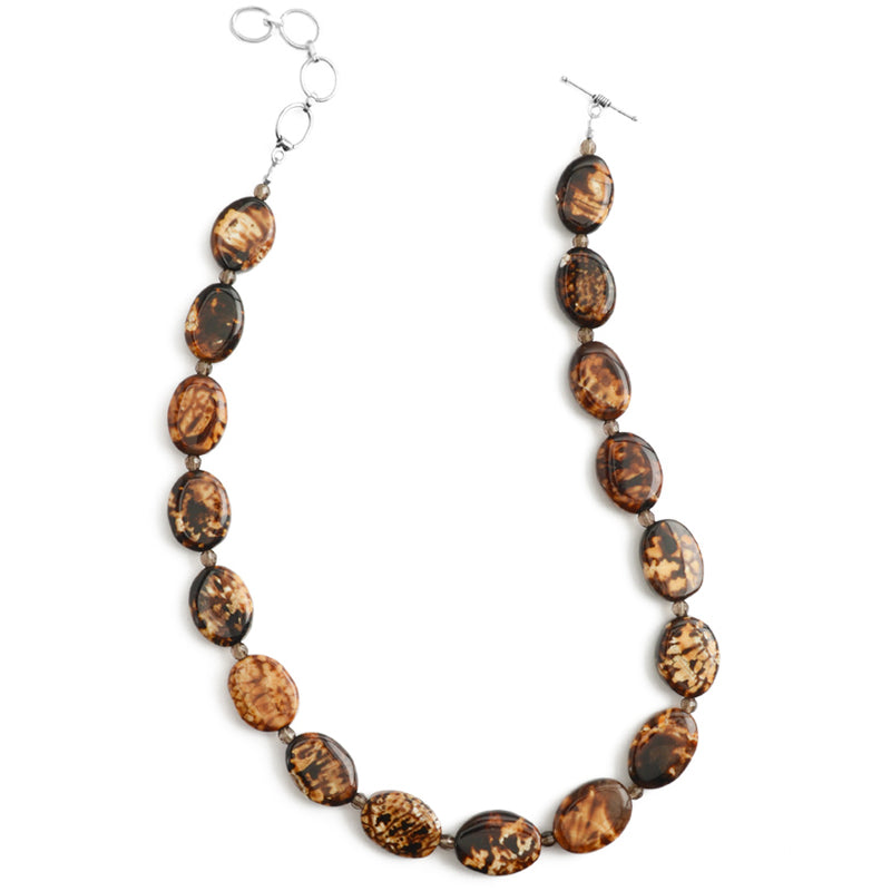 Exotic Leopard Print Agate Necklace, in Sterling Silver or Gold Filled-16