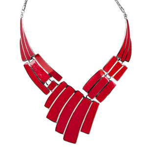 Majestic Coral Balinese Sterling Silver Chain Statement Necklace